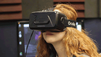 Student Using Virtual Reality (VR) Headset