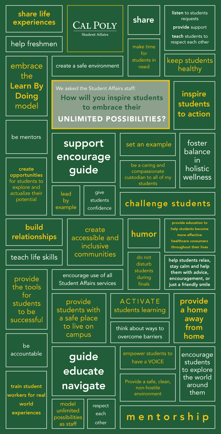 student affairs staff commitments to student success unlimited possibilities