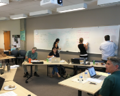 Cal Poly's faculty meet to discuss student learning during an assessment workshop