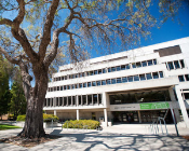 Image of Cal Poly Kennedy Library, where the Academic Programs and Planning office is located on the third floor