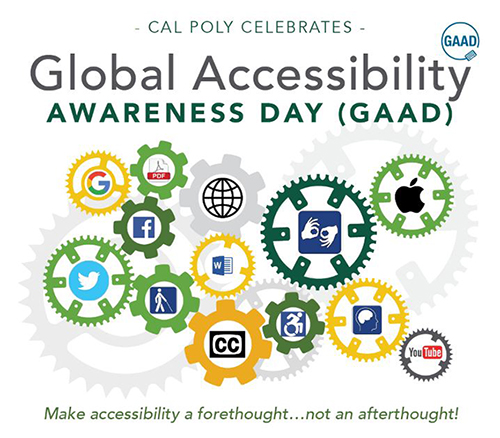2017 Global Accessibility Awareness Day flier