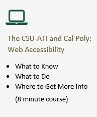 Web Accessibility 8 minute course, What to know, What to do, Where to get more info