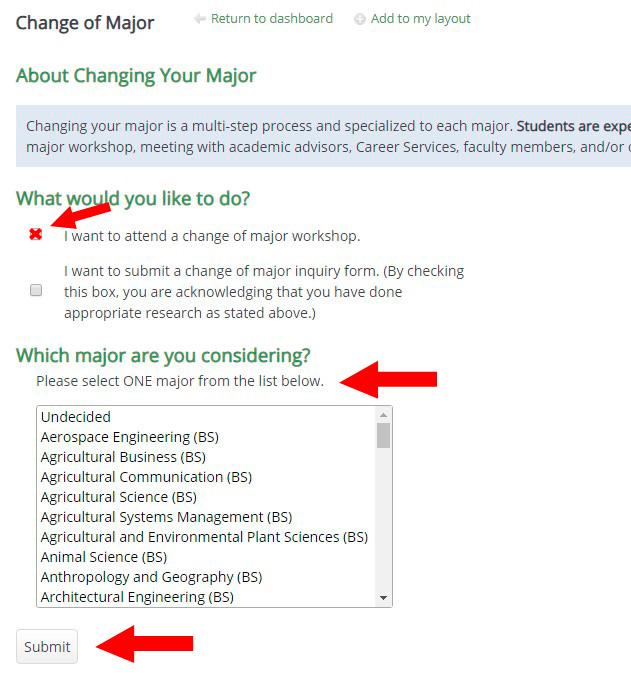 Change of Major - Academic Advising - Cal Poly, San Luis Obispo
