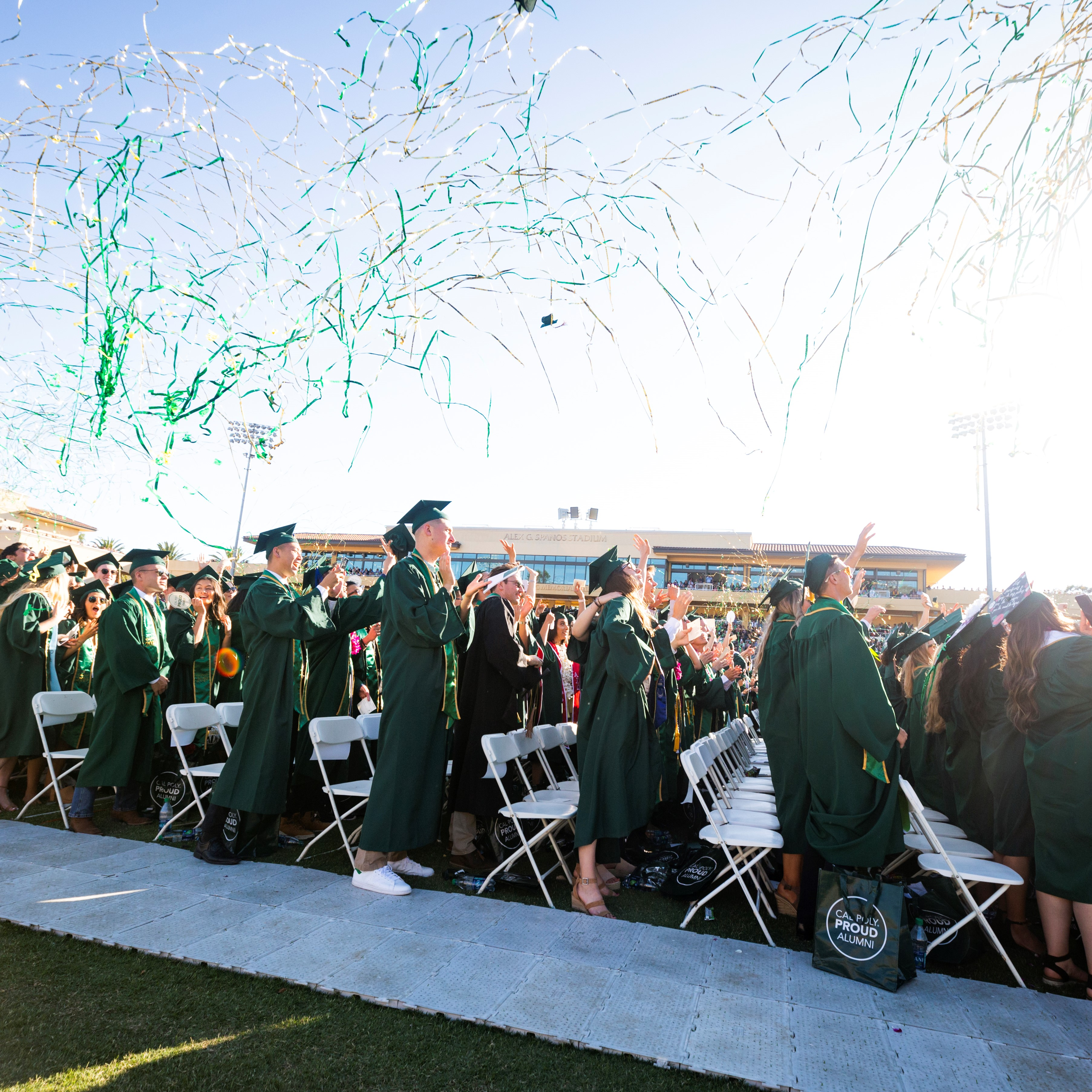 celebration at spring commencement