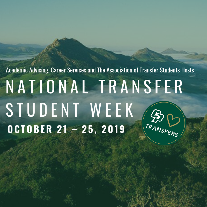 advertising dates of national transfer student week in 2019
