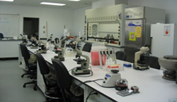 Biotechnology Lab with microscopes