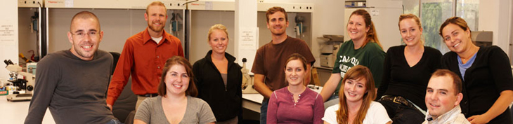 Photograph of graduate students sitting together