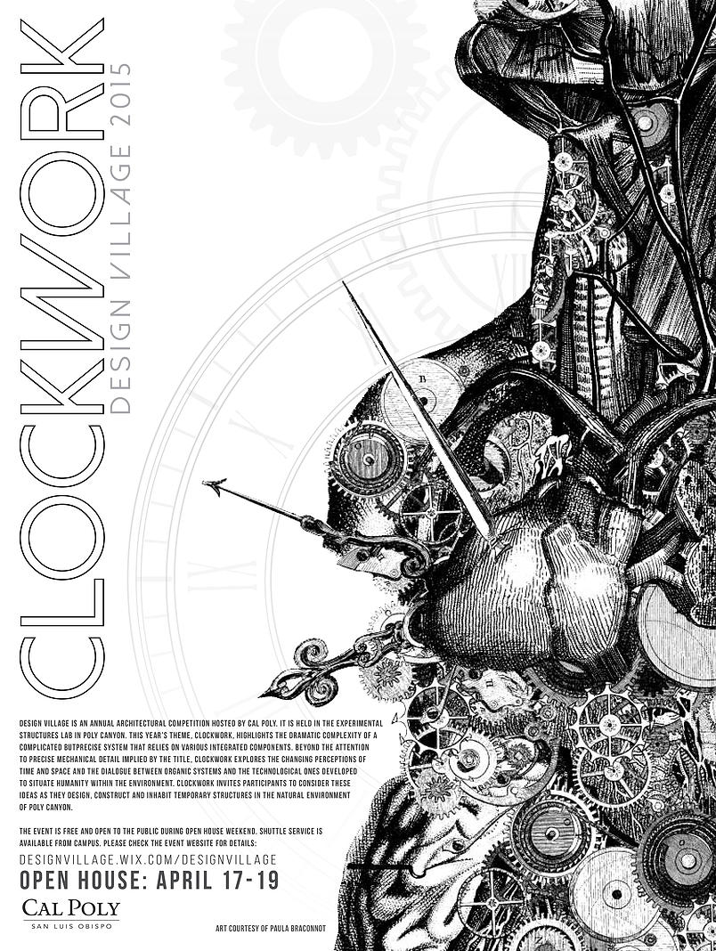 Poster for Clockwork Design Village 2015