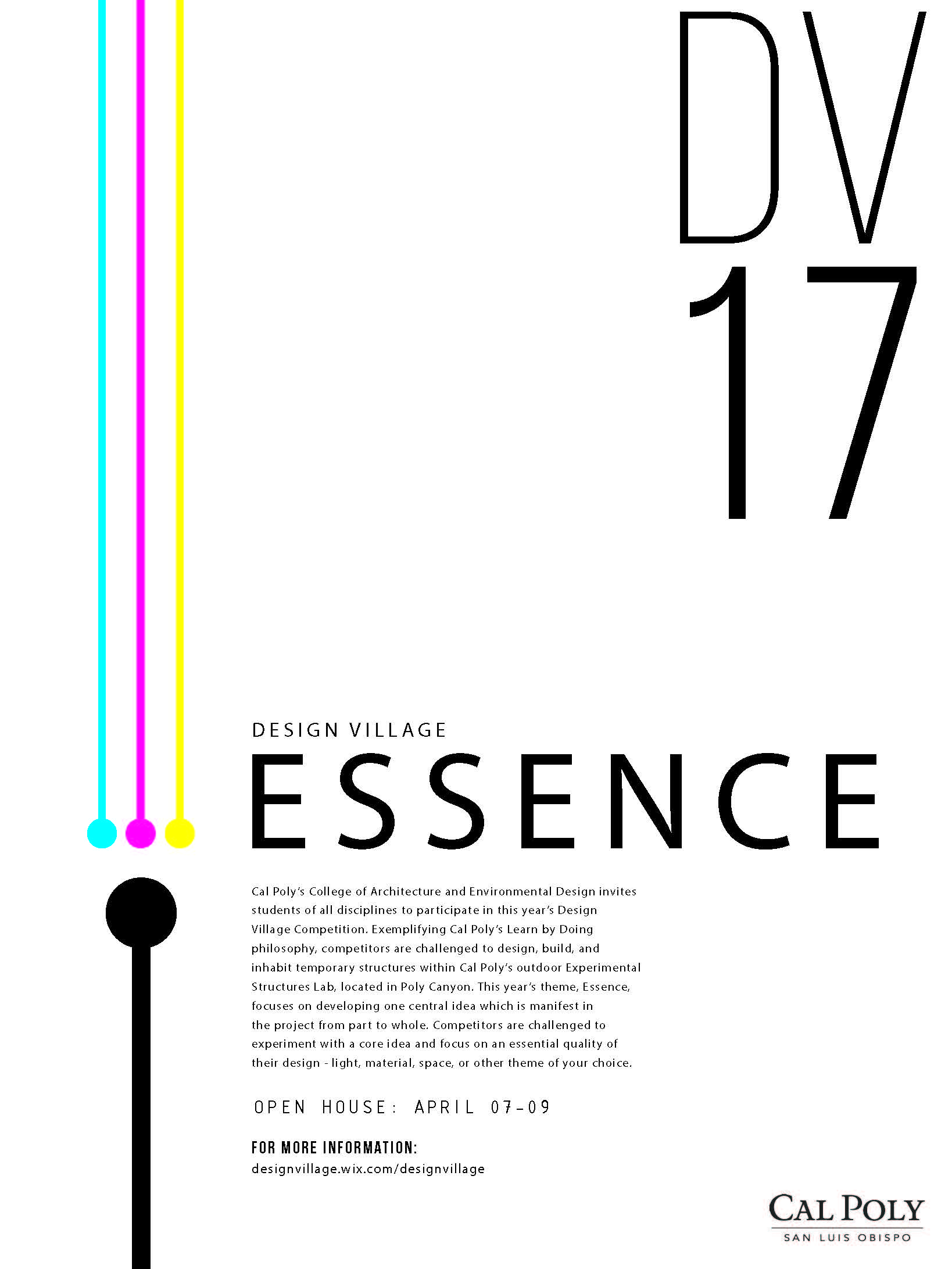 Poster for Design Village 2017