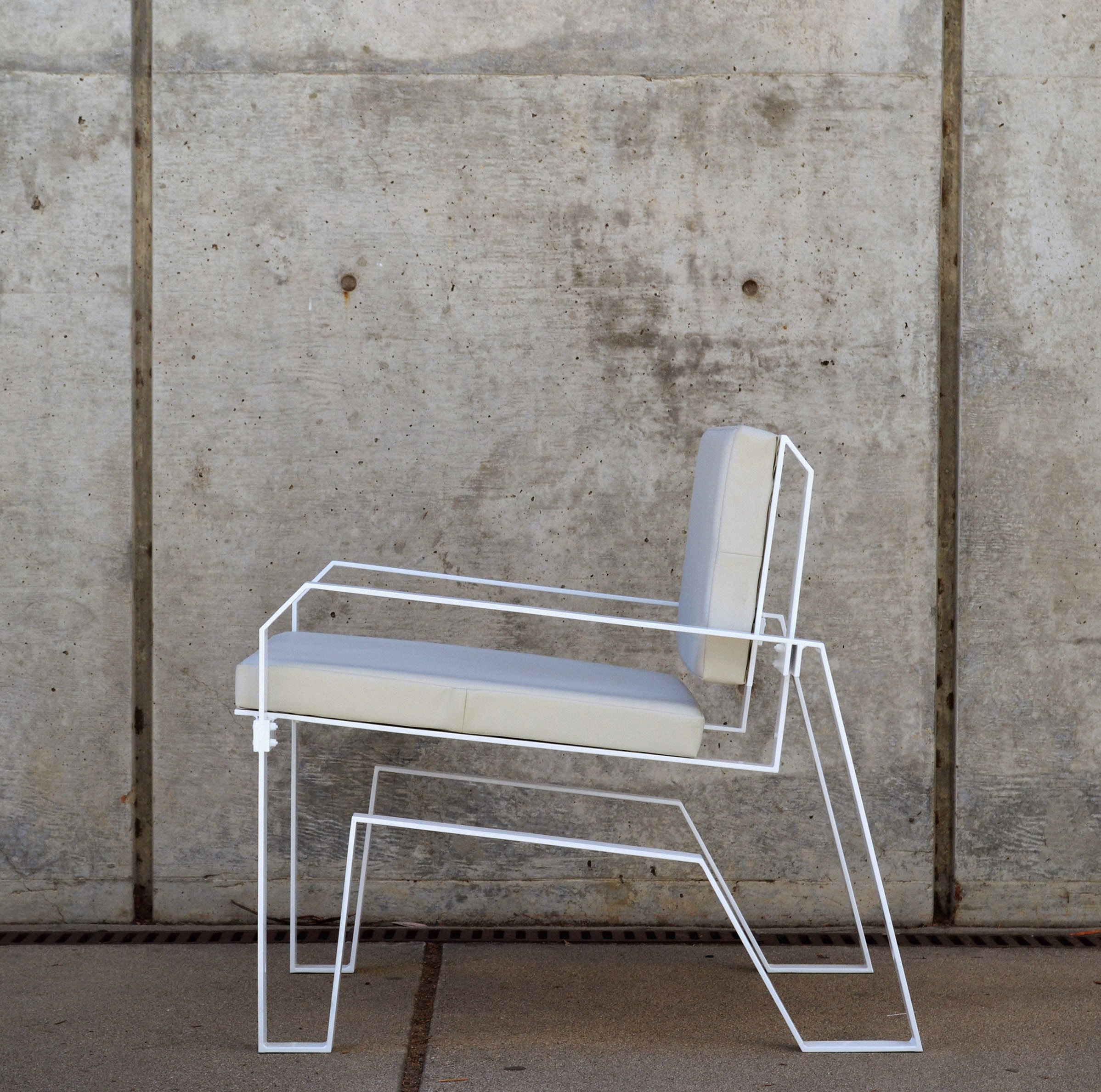 silver metal chair by Ilko Iliev
