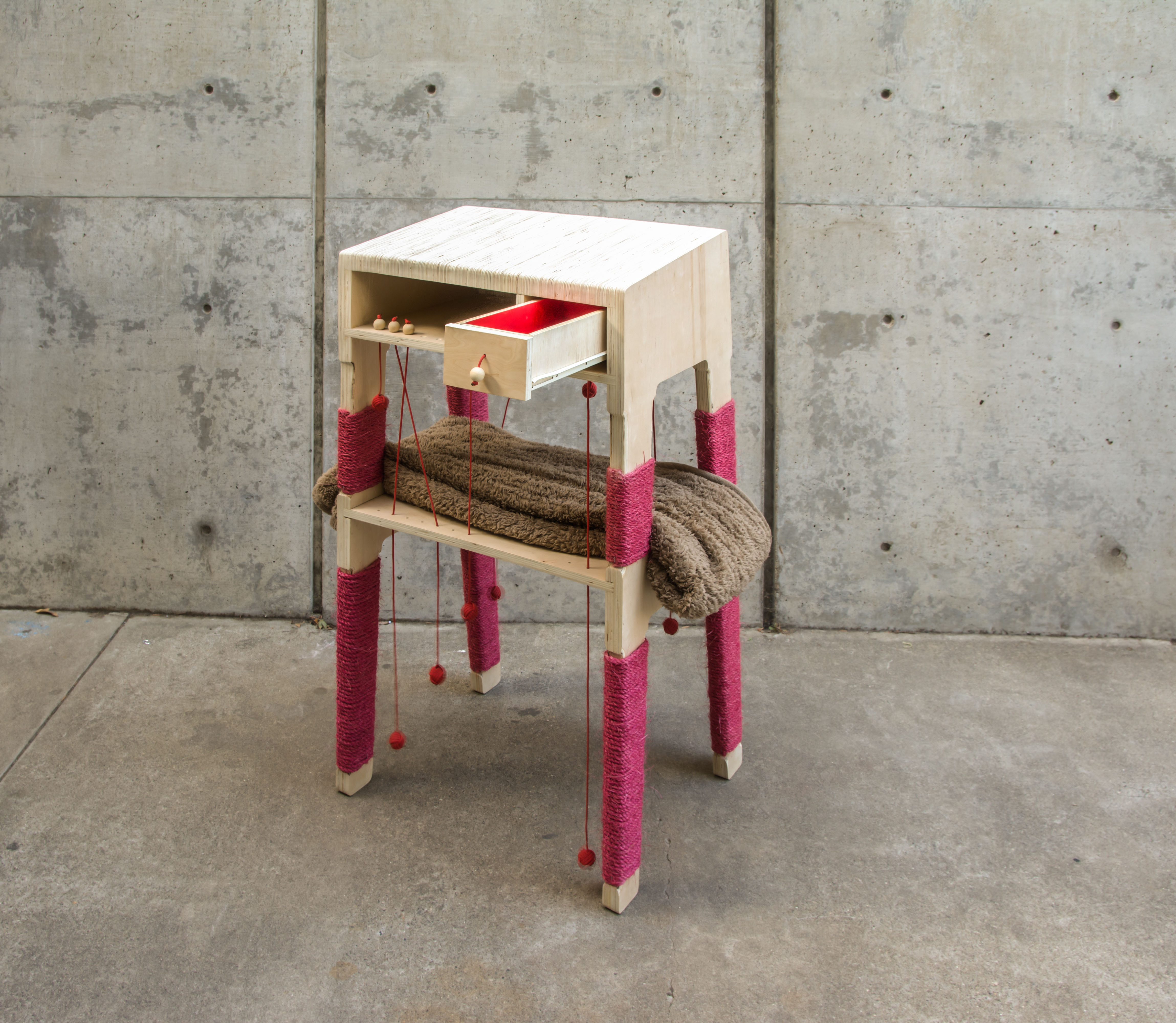 wooden side table by Suraj Reddy