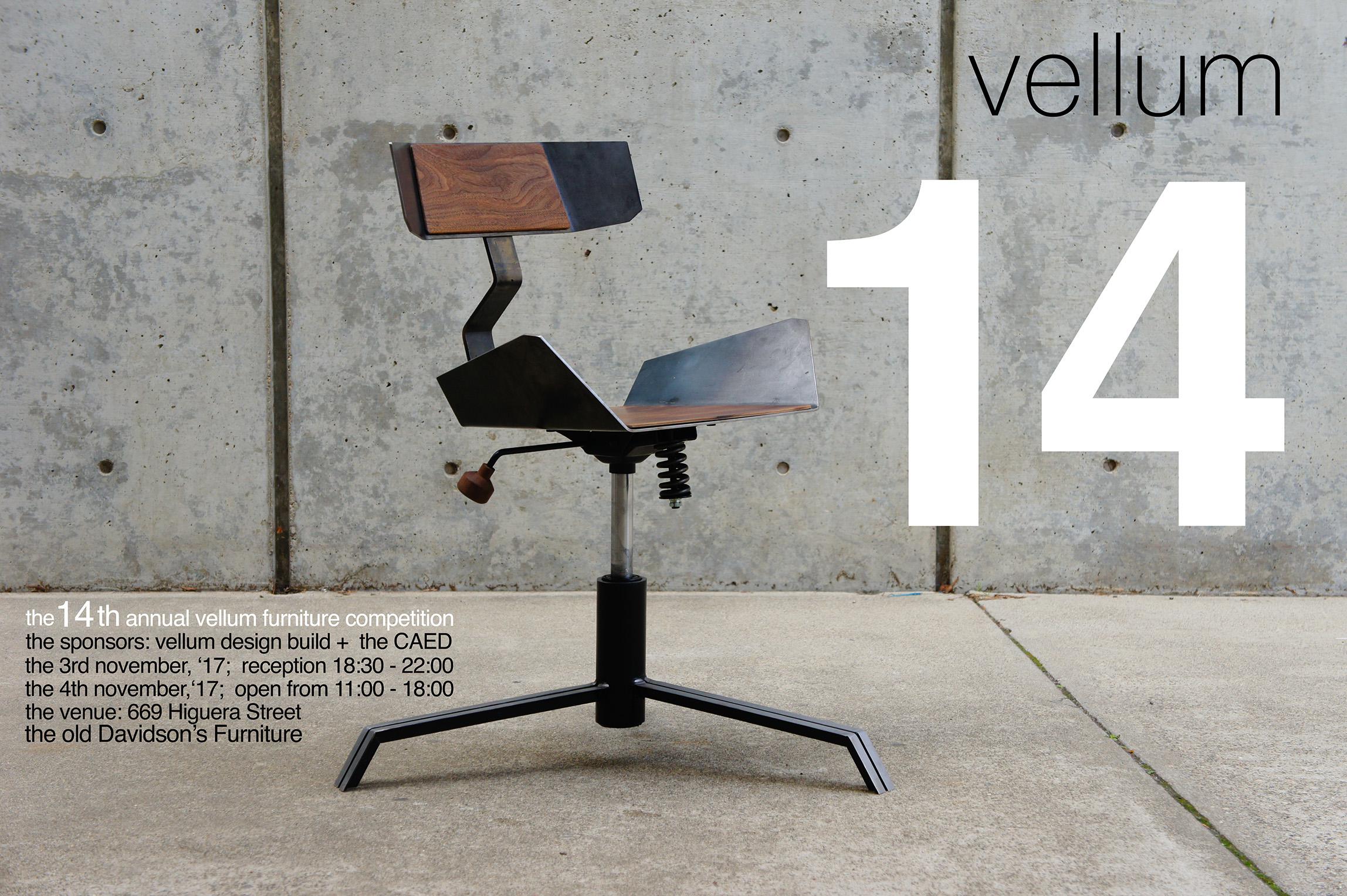 Vellum 14. Vellum CAED Furniture Competition   Exhibition   Architecture