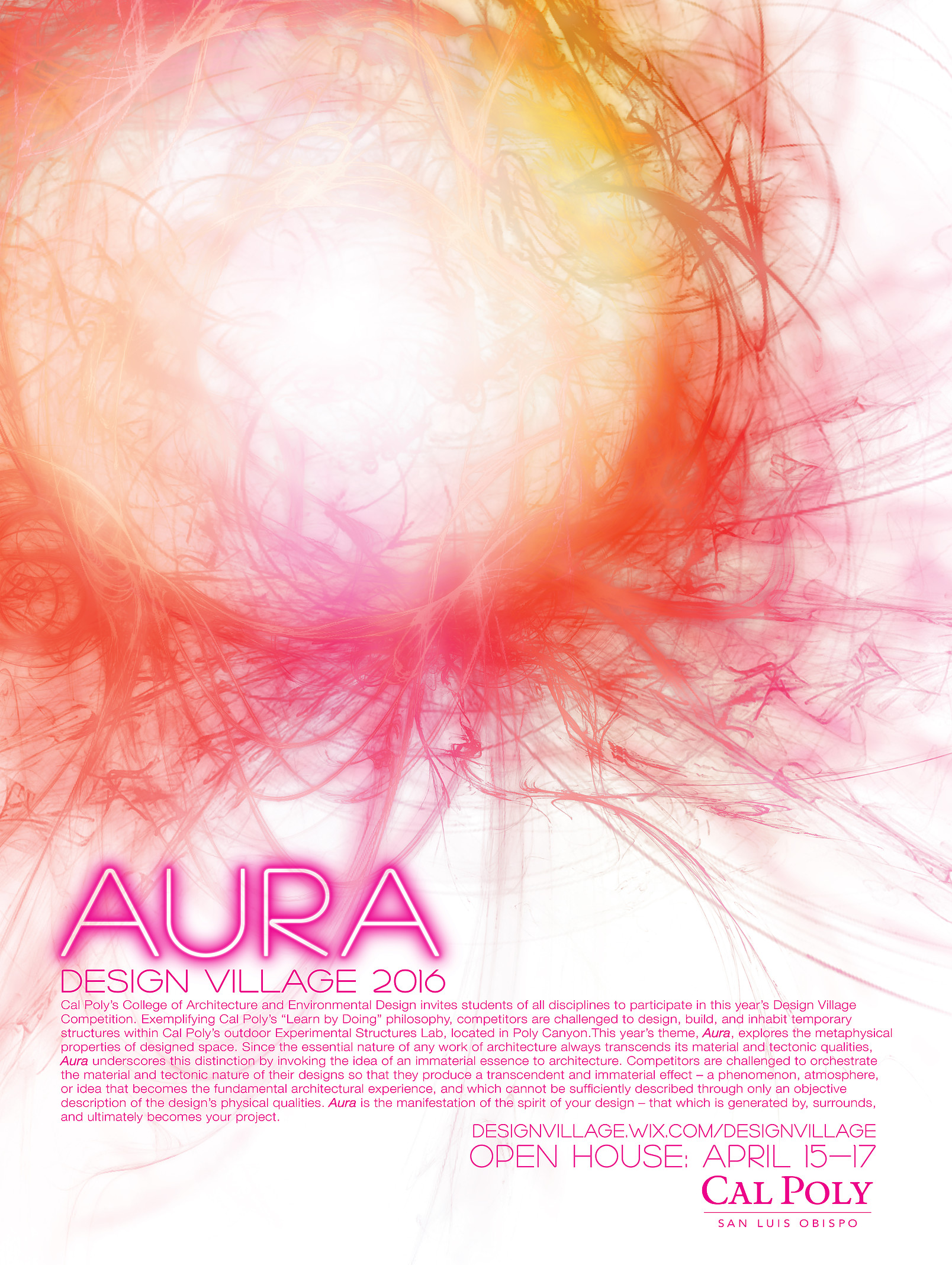 Poster for AURA Design Village 2016
