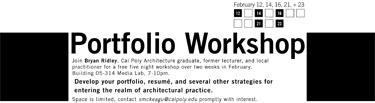 Image of Portfolio Workshop
