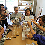 High school students at work in the Summer Career Workshop.