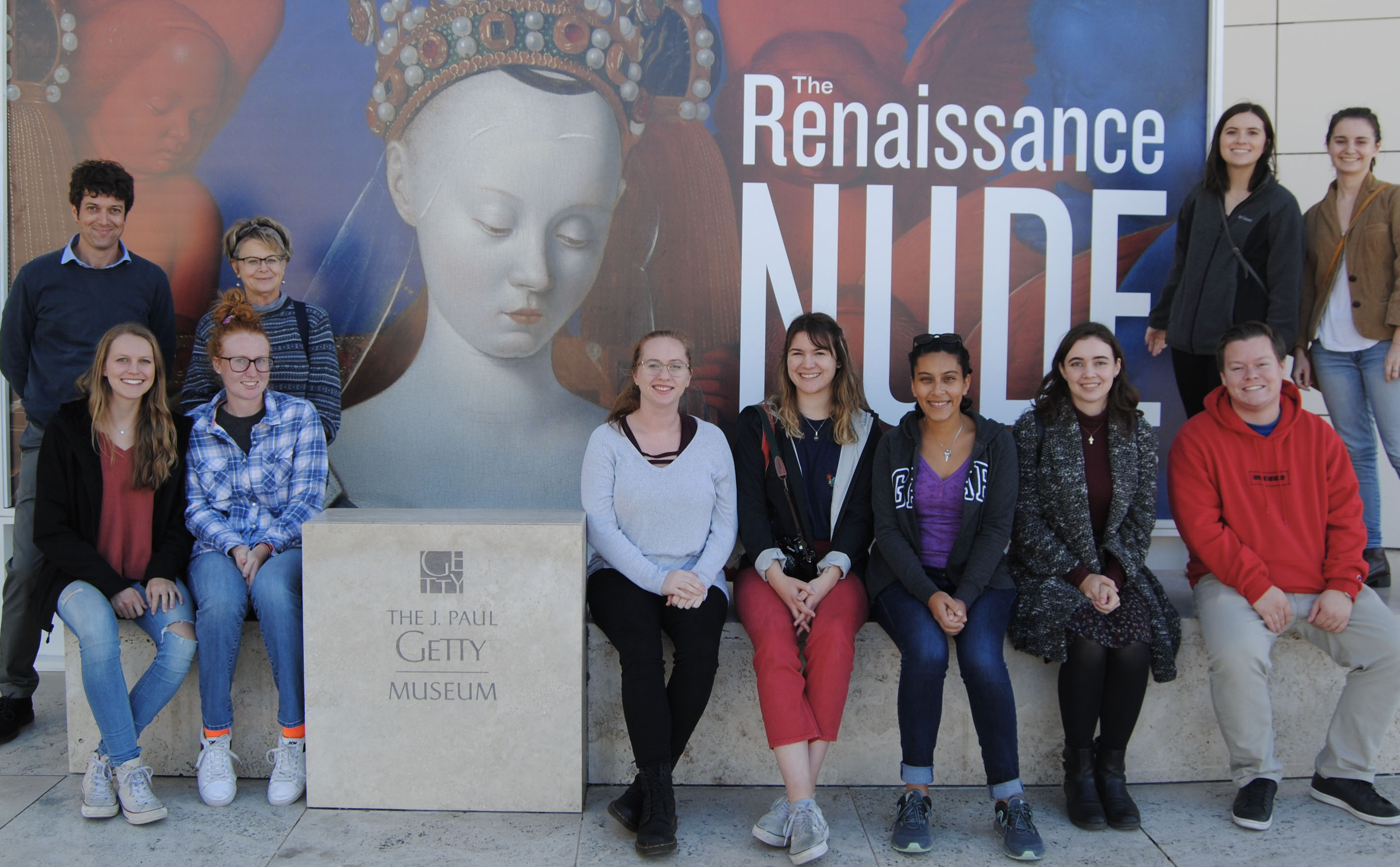 ART 371 students outside Getty exhibit