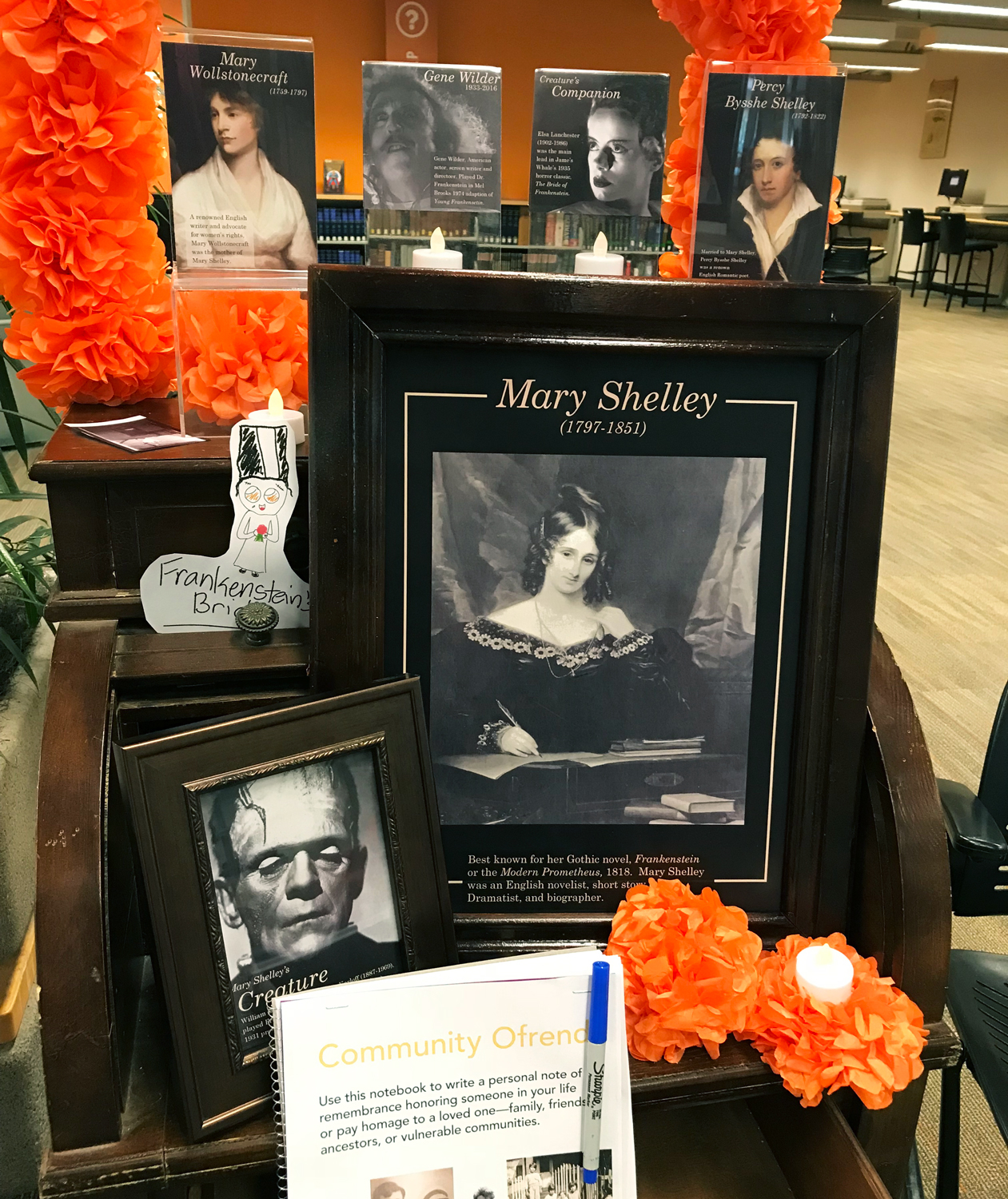 Mary Shelley altar for Frankenreads 2018