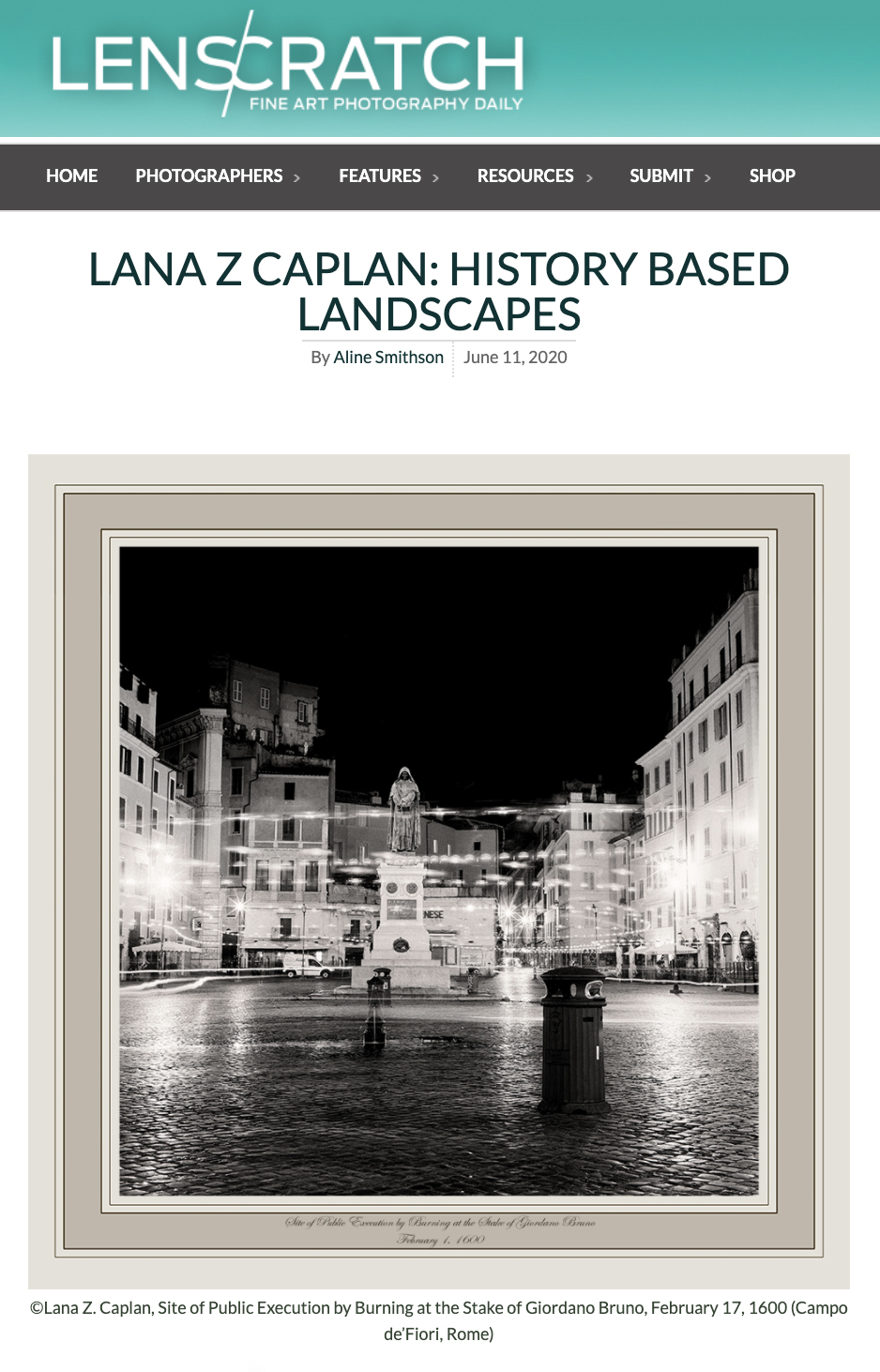Lana Z Caplan on Lenscratch.com