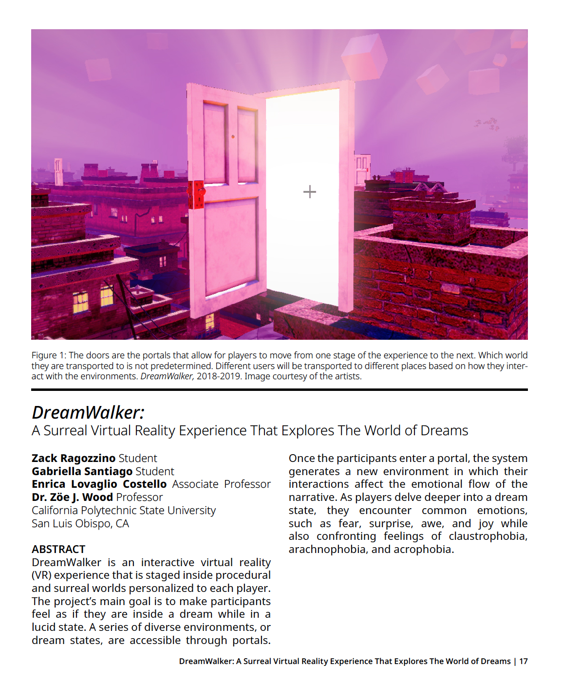 Abstract of Dreamwalker Article and Image of an open door with light shining through