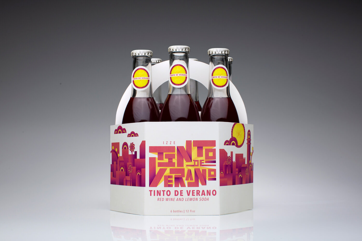 Cal Poly Graphic Design student project / Art 437: Graphic Design III / Tinto de Verano package design