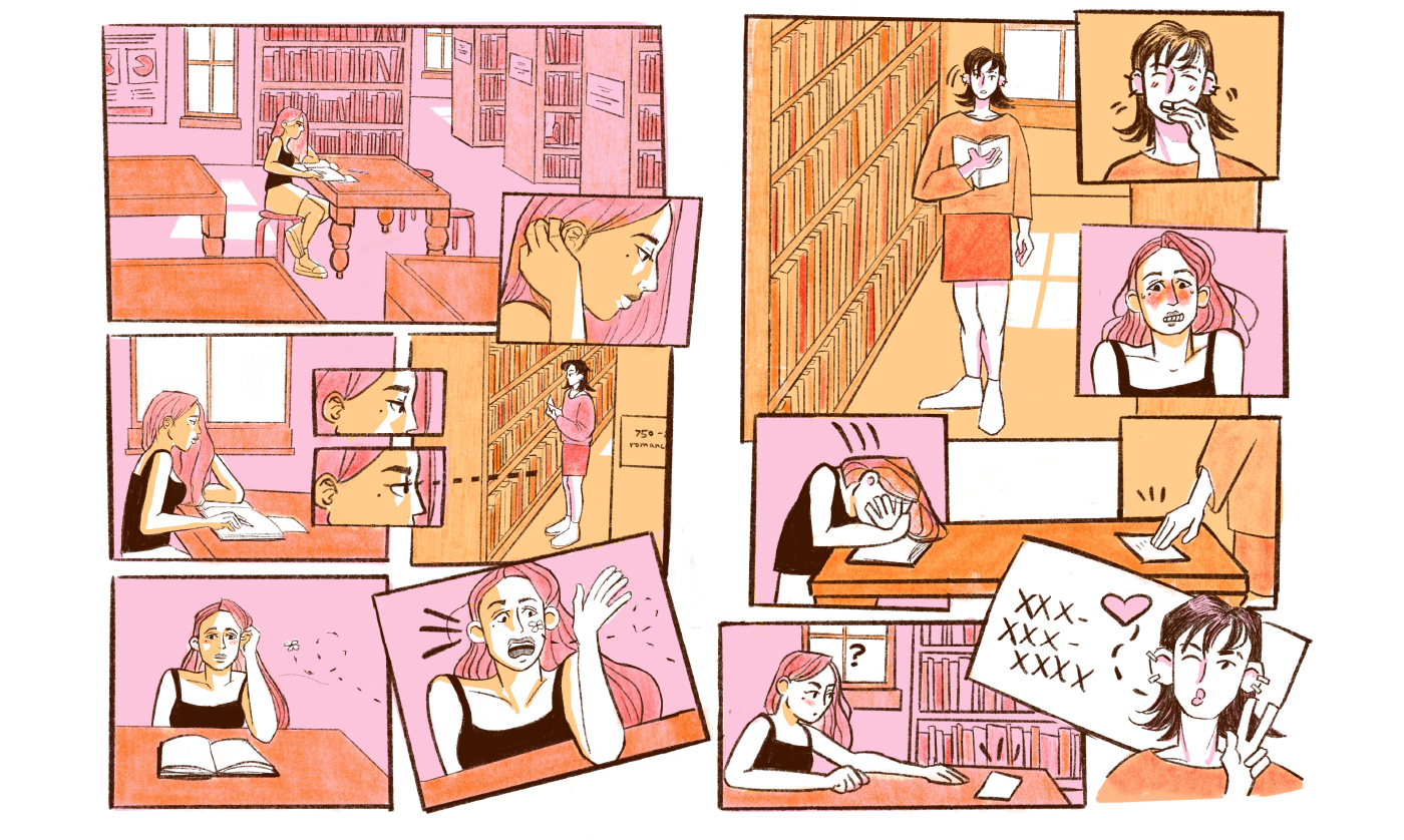 Illustration, sequential illustration, student work by Chloe Frerichs