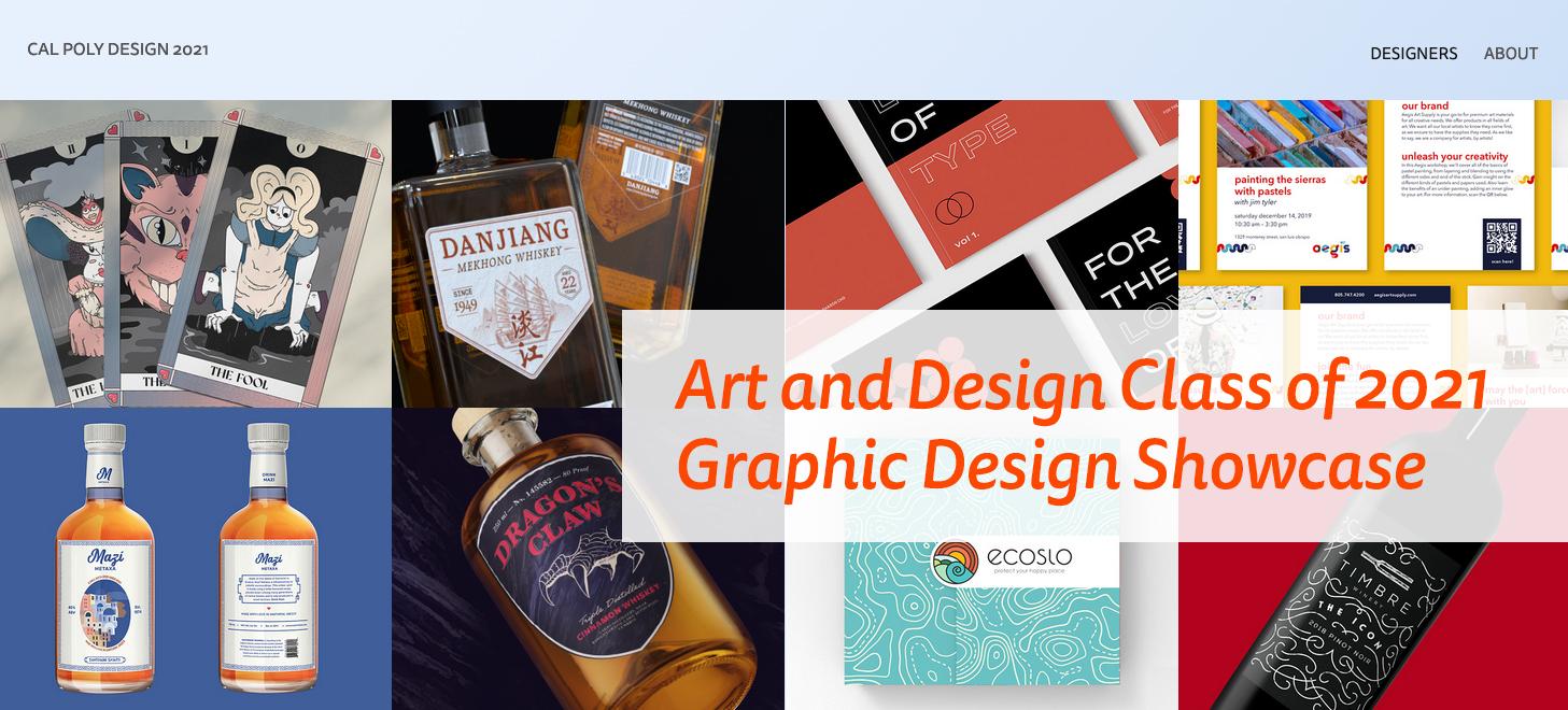 Image of Cal Poly Art and Design Graphic Design Senior Showcase website