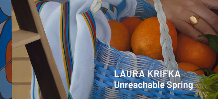 detail of Unreachable Spring, oil painting by Laura Krifka, 2020