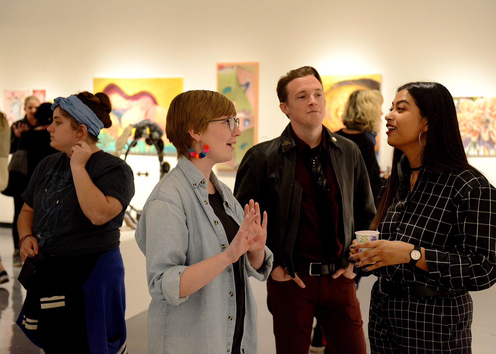 Student Artists at 2018 Juried Student Art Show