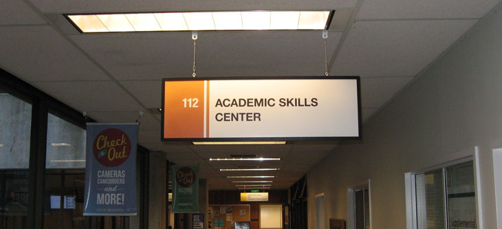 Academic Skills Center sign