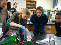 Students lead a National Science Foundation workshop on a protein analysis