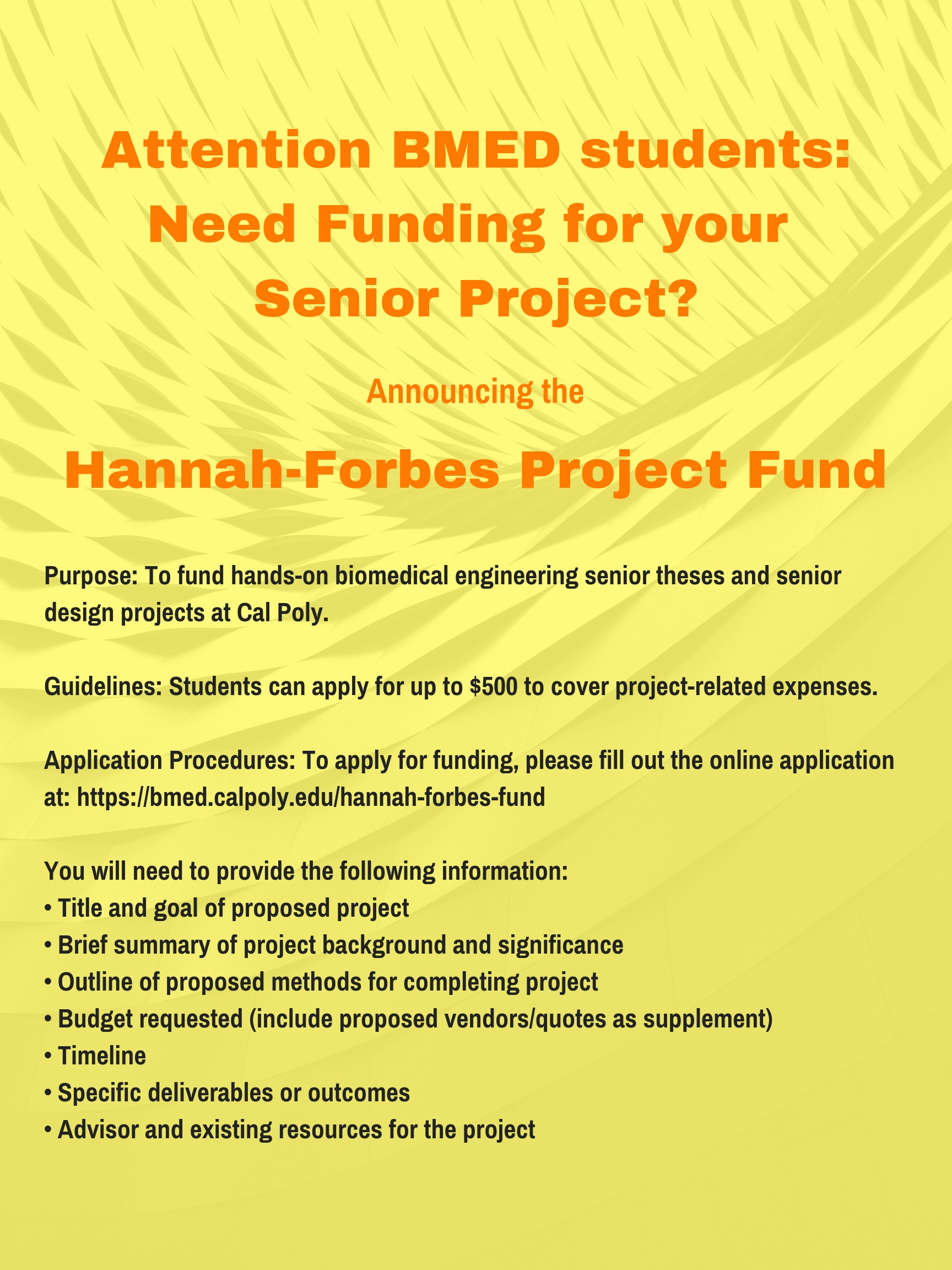 Hannah-Forbes Fund Flyer