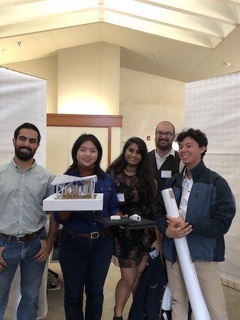 Andy Cumpian, CM; Khanh Nguyen, ARCH; Isha Sharma, ARCH; Isaac Cameron, ARCE; and Antonio Rosales, CM. Photo by Cindy Lambert