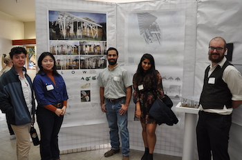 Antonio Rosales, CM;Khanh Nguyen, ARCH; Isha Sharma ARCH; and Isaac Cameron, ARCE. Photo by Heather Muran