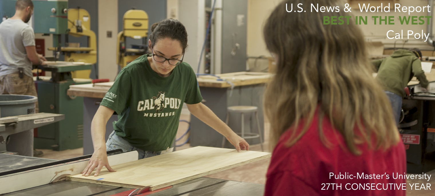 Cal Poly is named the number one public, master's -level university in the West by U.S. News & World Report.