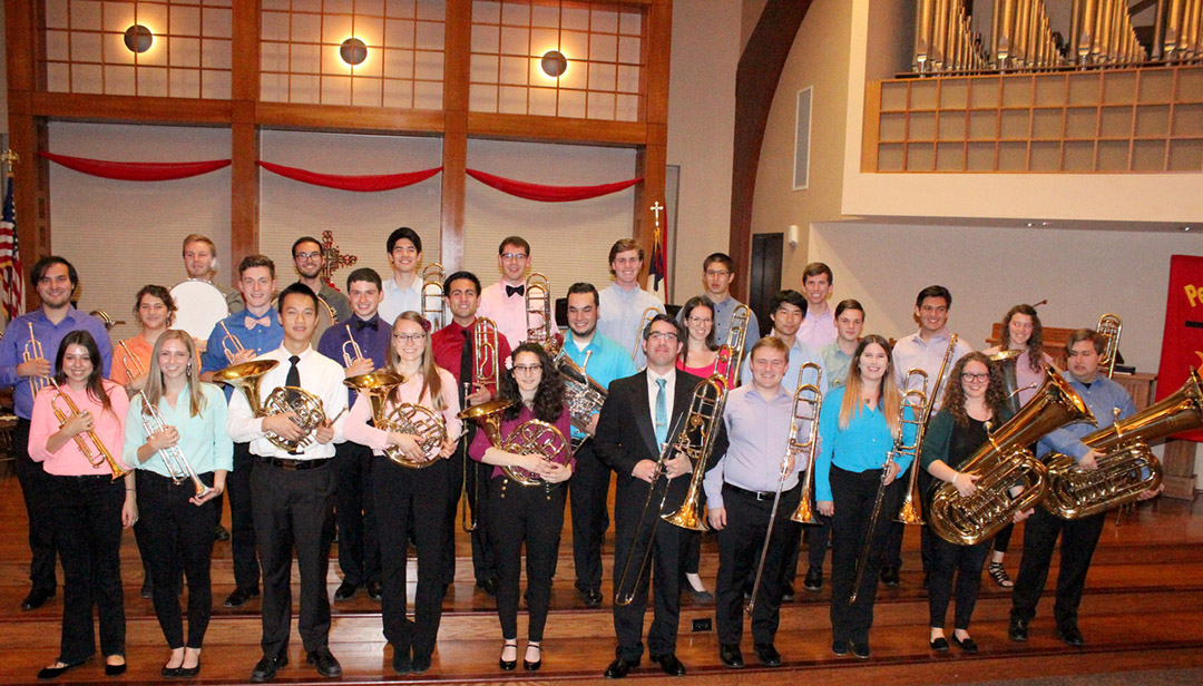 Photo of the Cal Poly Brass Choir.