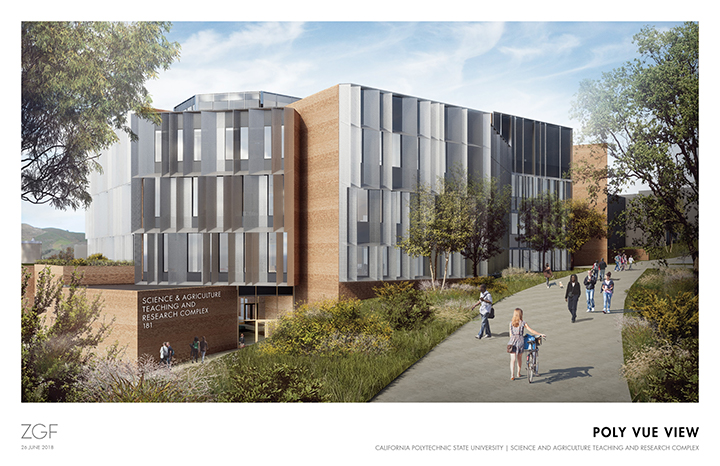 Rendering of the Science and Agriculture Teaching and Research Complex on the Cal Poly campus