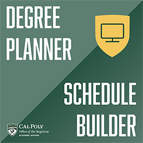 Graphic reading Degree Planner/Schedule Builder