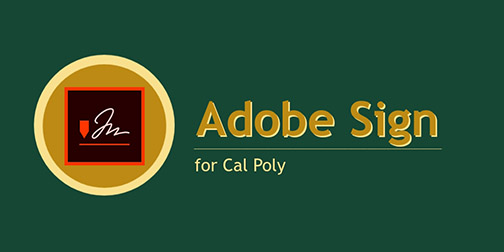 Adobe Sign logo for Cal Poly