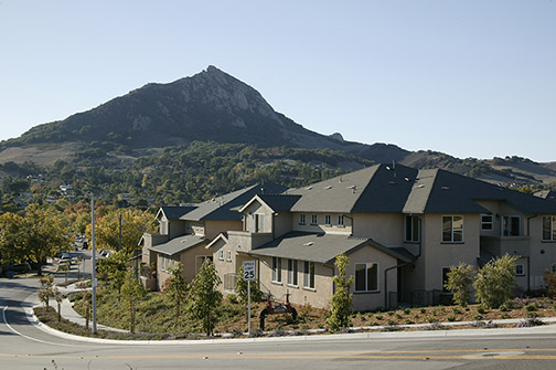 Photo of several of the Bella Montana homes in San Luis Obispo.