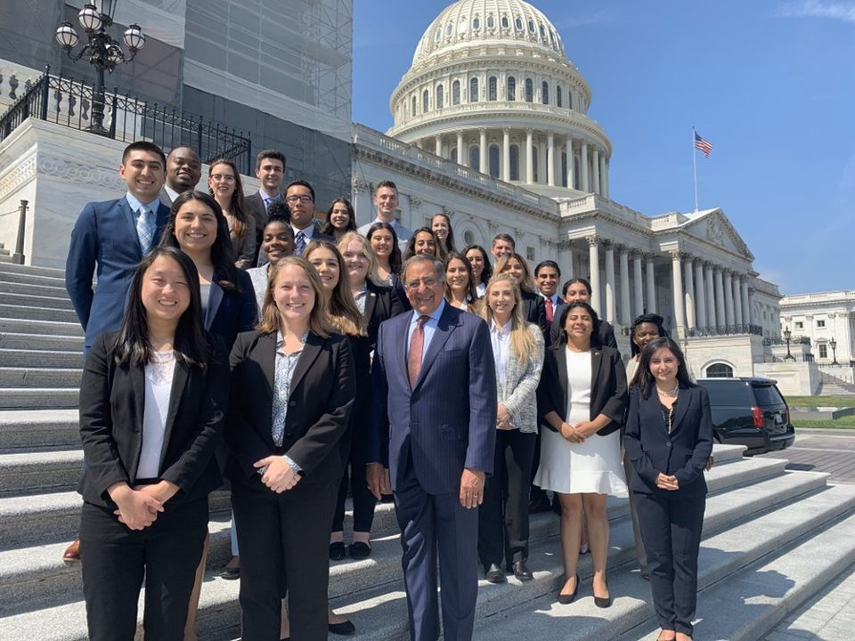 Photo showing Panetta Student interns in Washington, D.C.