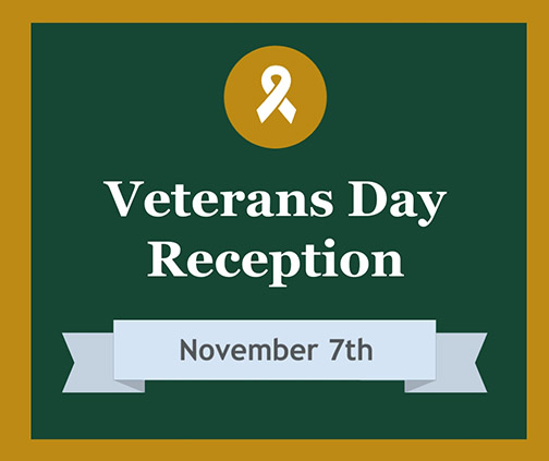 Veterans Day Reception November 7th