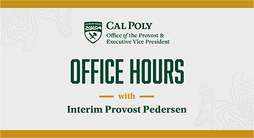 Graphic for Office Hours with Interim Provost Pedersen