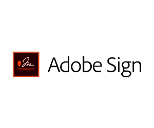 Small graphic of a scribbled signature and text reading Adobe Sign