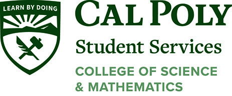 Cal Poly logo with text reading Student Services College of Science and Mathematics