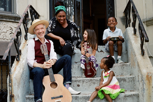 Dan Zanes and Claudia Eliaza are pictured, left to right, in a publicity photo.