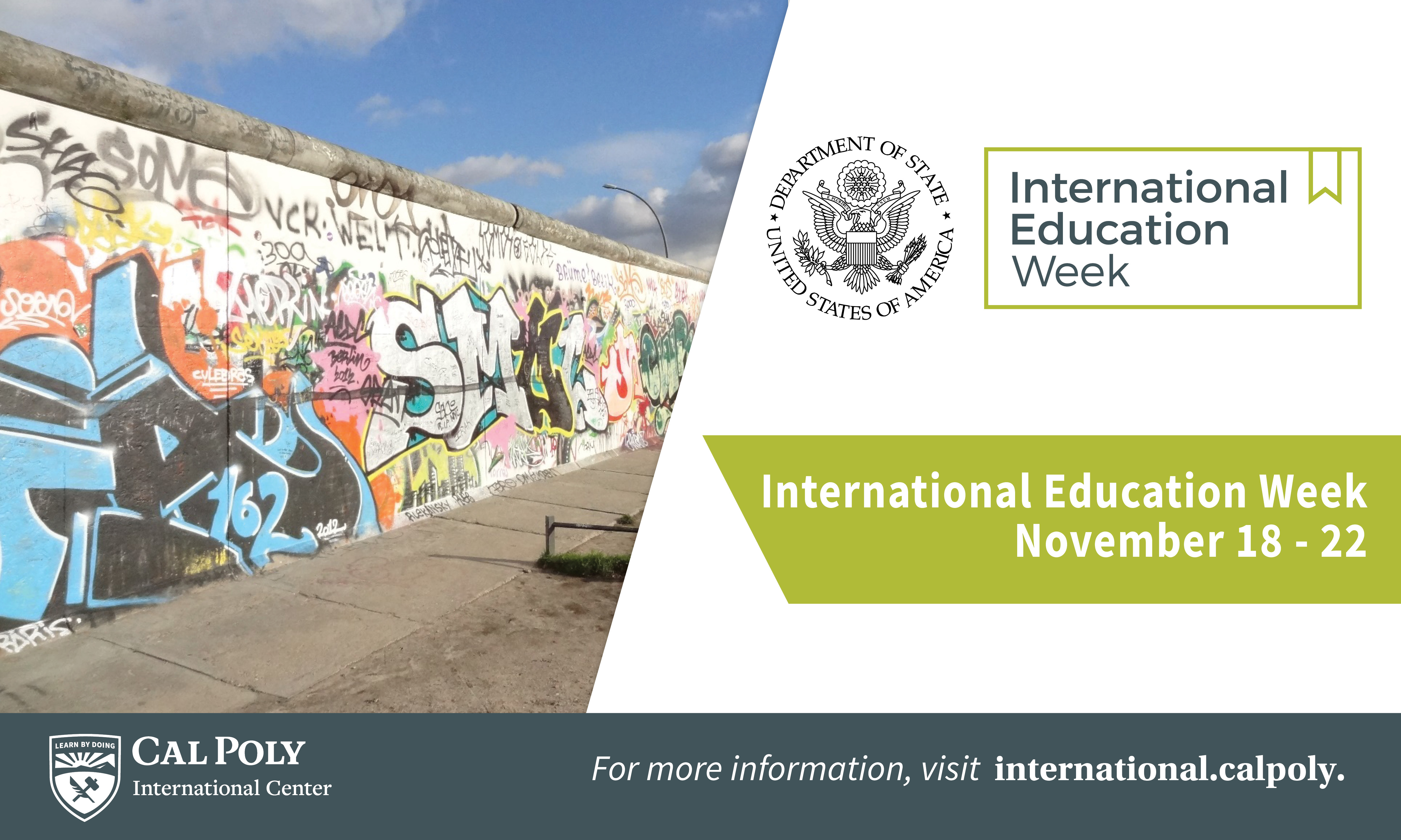 Banner for International Education Week.