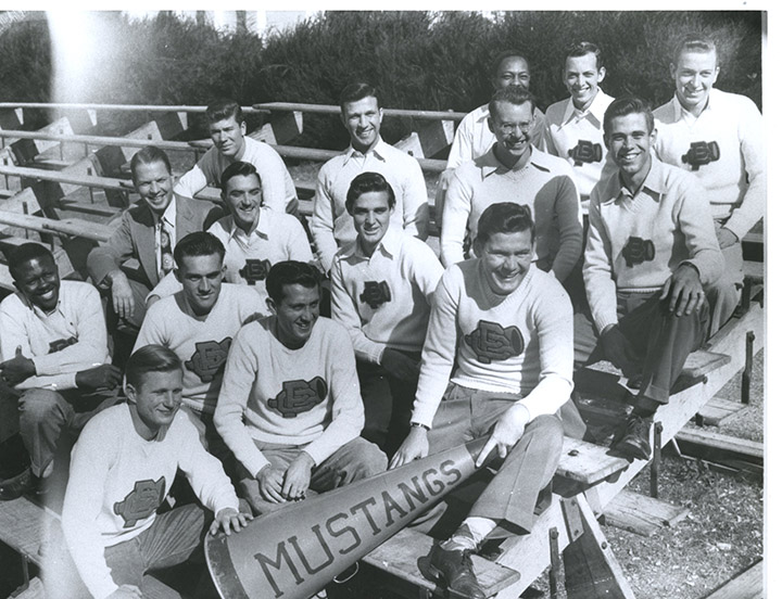 Jack Spaulding, holding the megaphone in the photo, died Sept. 23, 2019. Photo dated 1948.