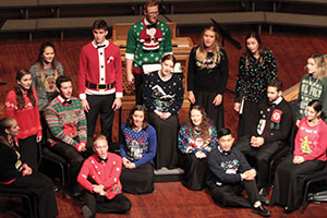 File photo from a Cal Poly Choirs' holiday kaleidoscope concert.