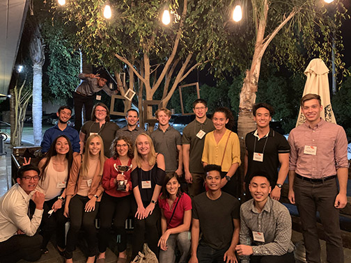 Students from the Kinesiology and Public Health Department pose at the Southwest American College of Sports Medicine Annual Region Chapter Meeting in Costa Mesa, California, on Oct. 26