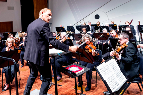 Photo of the SLO Symphony performing.